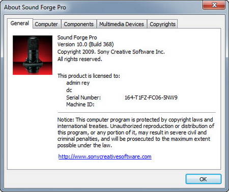 Windows. SONY Sound Forge Pro 10 Build 507 (patch-keygen DI) ChingLiu