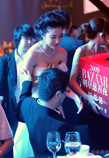 crystal liuyifei sexy dress harper bazaar