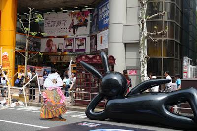 Sibuya Art Re-Public Tokyo Black Usagi