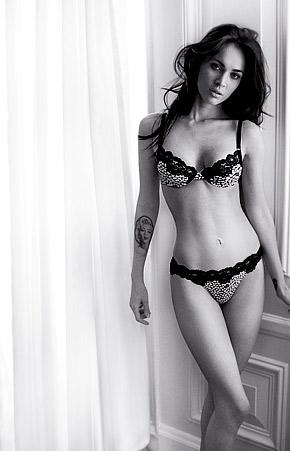 Megan Fox Emporio Armani Bra