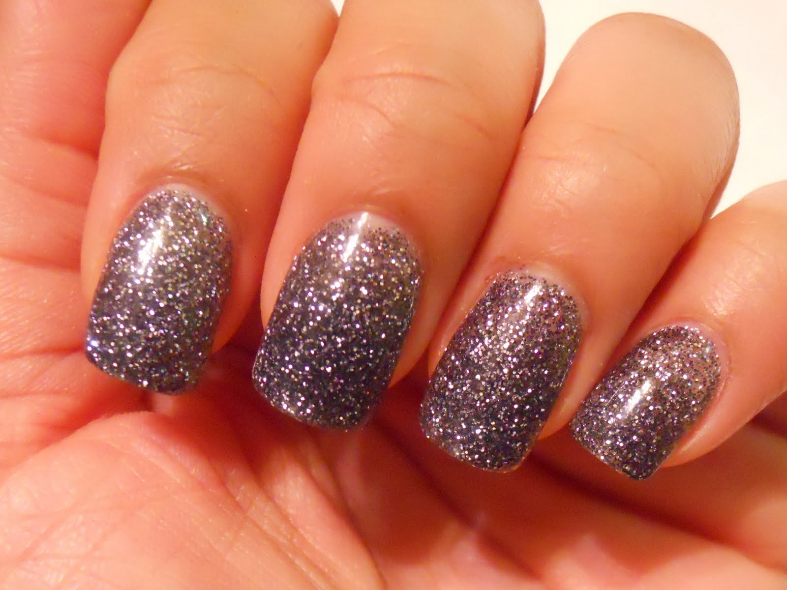 yummy411....get it here!: My new nails: Charcoal Gray/Black with ...