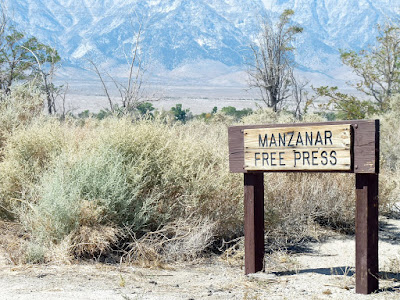 Manzanar Free Press Sign California