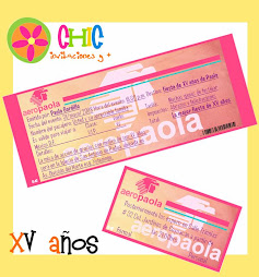 Invitaciones tipo Boleto de Avin - tan chic como t -