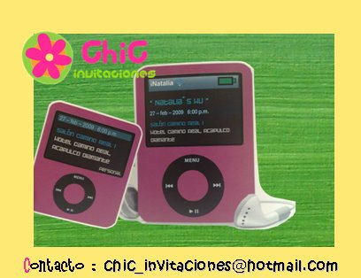 Invitación tipo ipod
