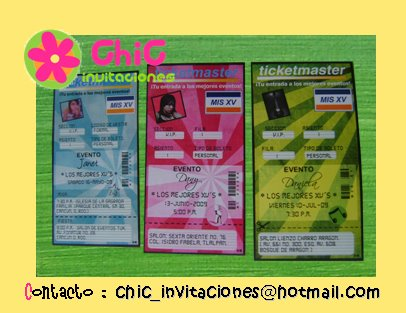Invitaci  N TICKETMASTER En Dif  Colores