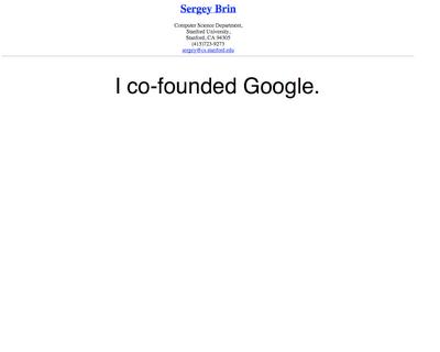 Sergey Brin CV (Biri Onu İşe Alsın:)