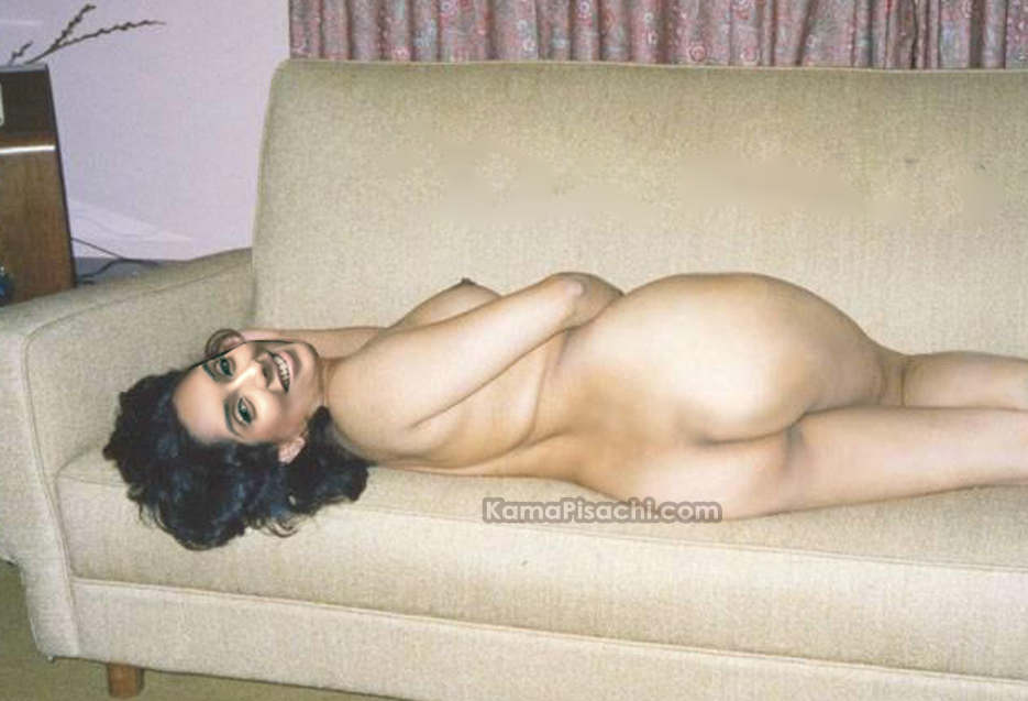 Asin Lying Naked On Sofa