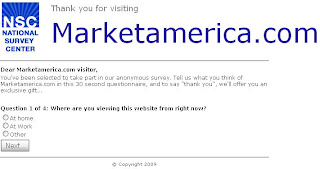 marketamerica.com fake survey