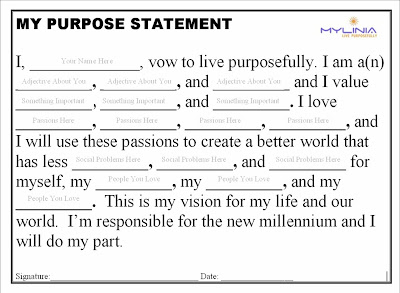 Purpose Statement Template - JullienGordon.com