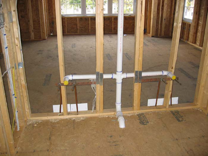 Rough Plumbing New Construction House