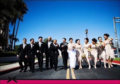 Wedding Party List on The Wedding Party Walking Entourage Style Pose Trista Lerit