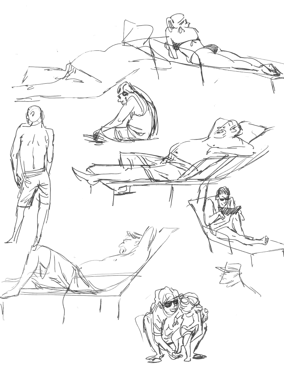Terry song yet even more swimming pool sketches for Swimming pool sketch