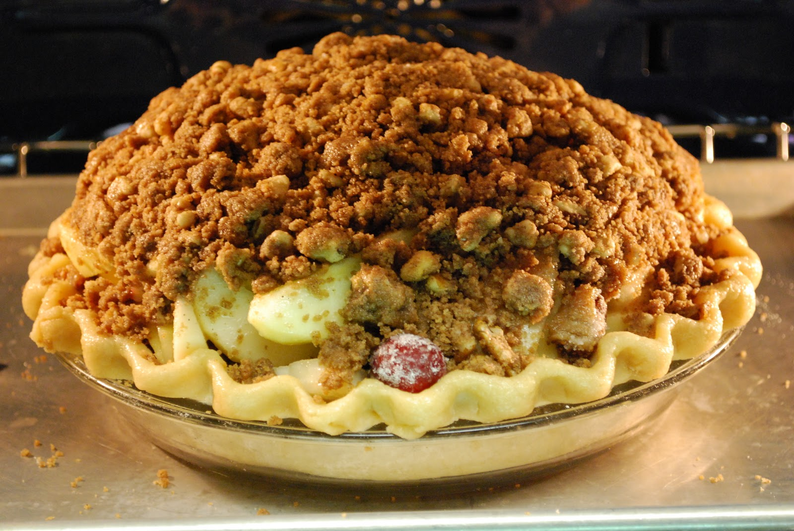 Pie Love You: Deep-Dish Winter Fruit Pie with Walnut Crumb #50