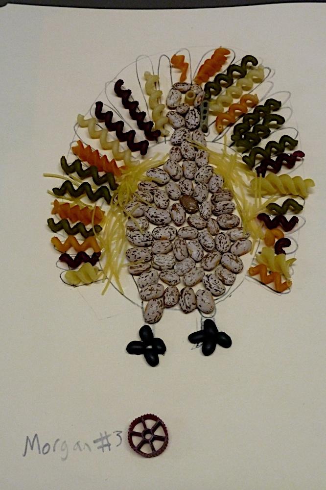 The Accidental Art Teacher Week 9 Thanksgiving Pasta Collage