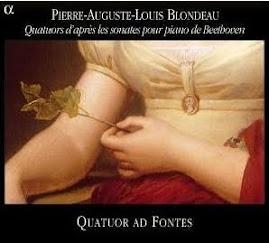 Blondeau - Quators d'apres les sonates pour piano de Beethoven - Quator ad Fontes @192