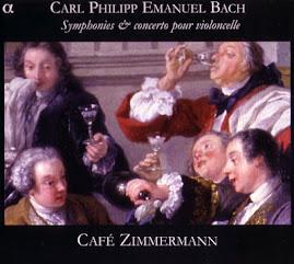 Bach CPE - Symphonies & concertos pour violoncelle - Cafe Zimmermann (Ape)