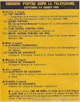 revista cutezatorii program tv comunism emisiuni ciresarii navodari film desene 1980 tabara tot inainte