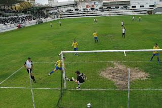 O único golo do jogo, marcado por Bruno aos 17 minutos.