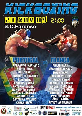 KICKBOXING | Selecção Portuguesa no Pavilhão do Sporting Clube Farense