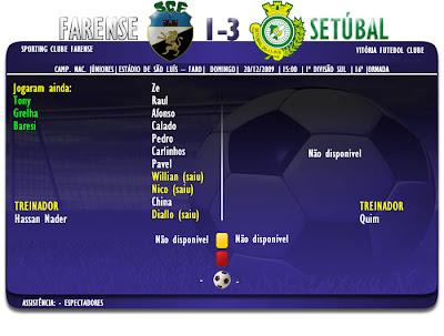 Júniores  Farense 1-3 V. Setúbal