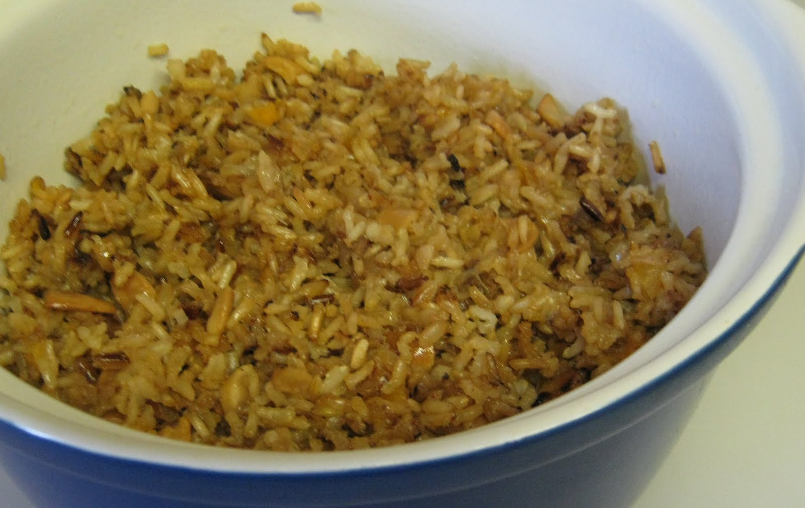My Sweet and Savory: Herbed Cashew Rice with Dried Apricots BSI