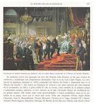 LA AVELLANEDA, ÚNICA MUJER EN LA CORONACION DE MANUEL QUINTANA además de ISABEL II.
