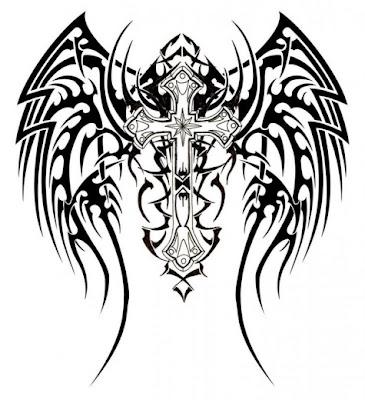tribal wings cross design