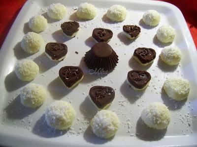 Bombonele cu cocos si ciocolata