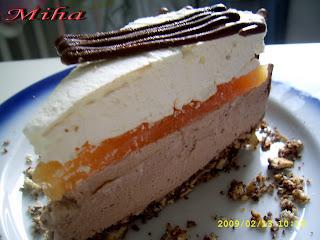 Tort cu ciocolata si mousse de mascarpone