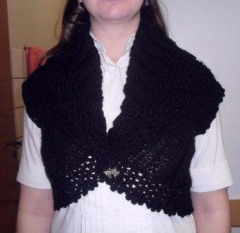 Bolerinho - Feito em Trico e Crochet