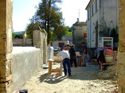 Rénovation de l'église de Pomy II (le 10 octobre 2008)