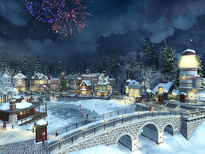 Village sous la neige 3D Screensaver 1.1.0.2 Portable