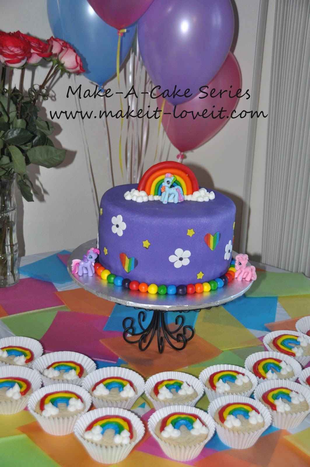 MakeaCake Series My Little Pony Cake and Rainbow Cookies Make