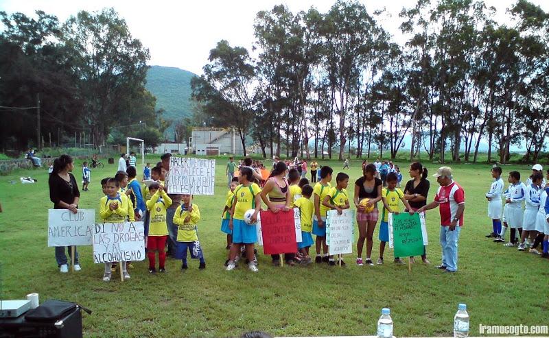Inaguracion de la liga infantil de Iramuco
