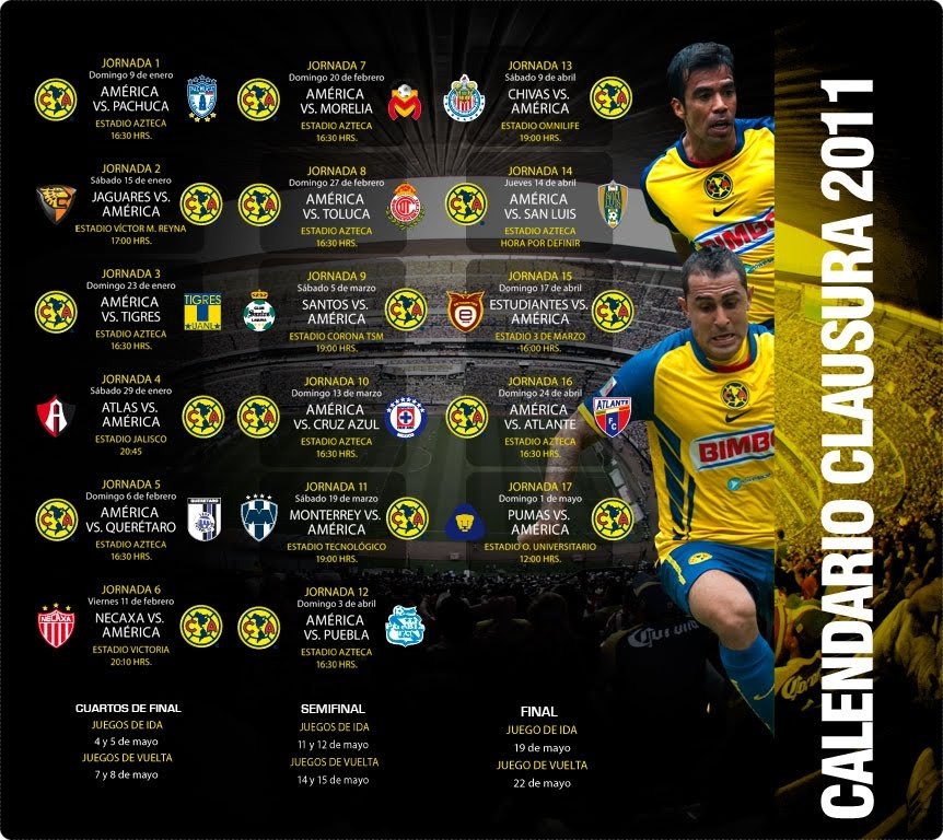 Calendario Del Am  Rica   Clausura 2011