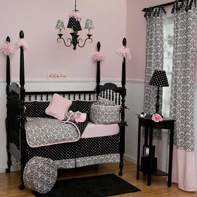 Black  White Bedding on Cost I M Completely Clueless 1 Black White And Light Pink Damask With