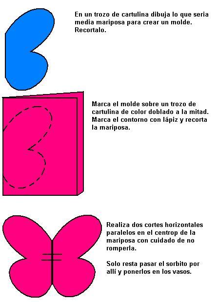 Mariposas de papel imagui - Como hacer mariposas de papel para decorar paredes ...
