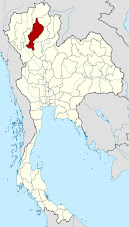 map of Lampang Thailand