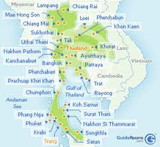 Map of Trang, Thailand