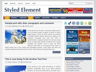 Styled Element Blogger Template