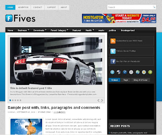 Fives Blogger Template