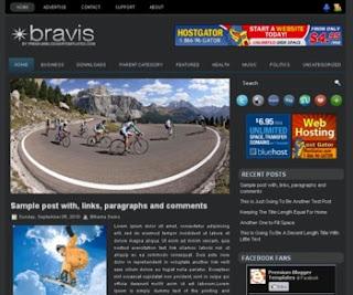 Bravis Blogger Template