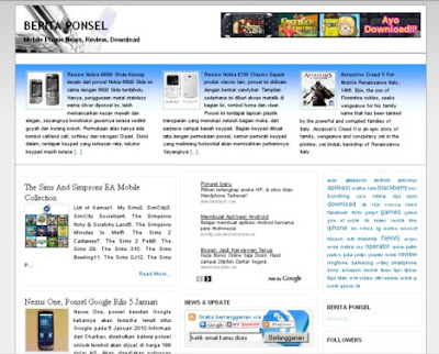 Denidi Blue Magazine Blogger Template