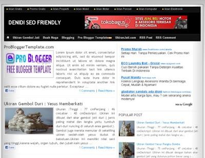 Denidi SEO Friendly Blogger Template