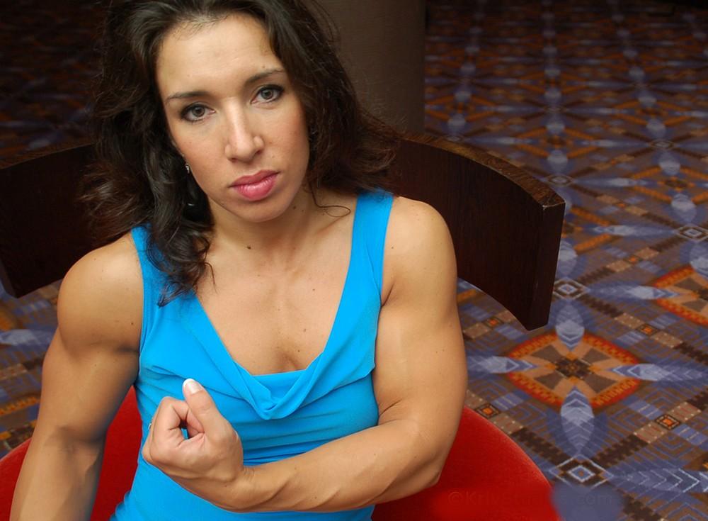 Muscular Women's Dressed: Theresa Hyatt.