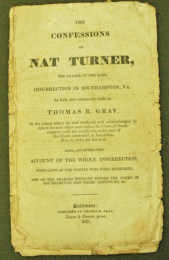 an analysis of the turner rebellion in the south Eric foner, ed nat turner (englewood cliffs: prentice-hall, 1971) provides a variety of sources from 1831 to the 1960s, analysis, and a bibliography henry i tragle, ed nat turner's slave revolt, 1831: a compilation of source material (amherst: the university of massachusetts press, 1971.