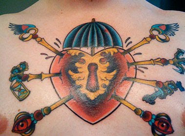 chest tattoo images