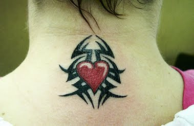 tribal heart tattoo image