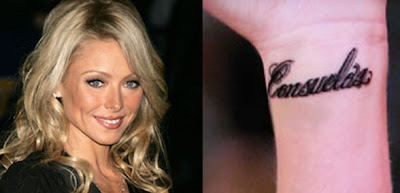 kelly ripa wrist tattoo