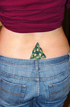 lower back celtic knot tattoo image